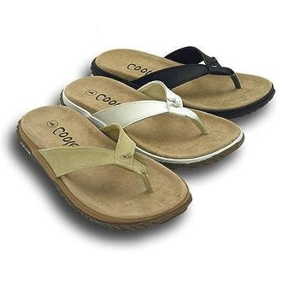 9f9d043b9cc893 Womens Ladies White Black Beige Leather Knot Toe Post Flip Flops Sandals  (4