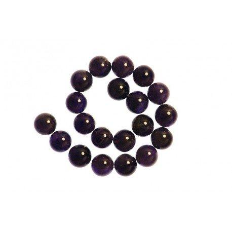2 x Perle Améthyste 10mm - Grade A