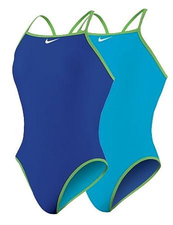 Nike Swim - Solids - Reversible Classic Lingerie Tank - TESS0066 Blue  Size-26