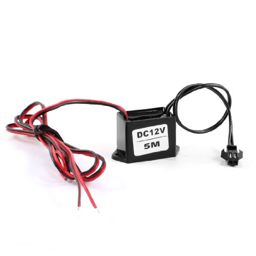 uxcell Red Black Cable EL Wire Neon Glow Strip Light Driver Unit ()