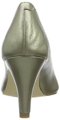Lotus Nicoletta Womens Peep Toe Bombas Luz Oro