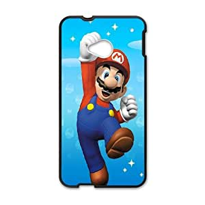 HTC One M7 Cell Phone Case Black Super Mario 001 Basic Cell Phone Carrying Cases LV_6042260