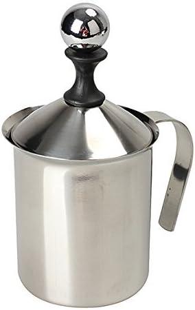 Milchaufsch/äumer 400ml 400 ml//800 ml Edelstahl Manueller Milchaufsch/äumer Double Mesh Coffee Cappuccino Foamer Creamer