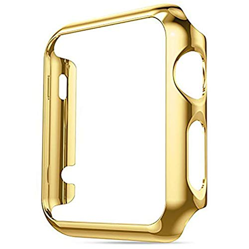 Series 4 44mm Case for Apple Watch Screen Protector, iWatch Premium Plating Protective Ultra-Thin PC Plated Bumper Anti-Scratch Full Cover for Apple Watch Series 4 44mm (Gold)