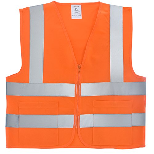Neiko 53967A High Visibility SAFETY Vest with 2 Pockets