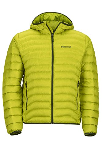 Marmot Tullus Hoody Men's Winter Puffer Jacket, Fill Power 600, Bright Lichen, Large