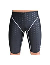 FOREVER YUNG Mens Crescent Pattern Low Rise Sports Soft Running Training Swim Short Pants