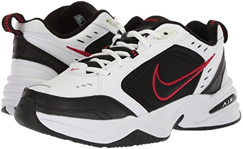 Nike Men S Air Monarch Iv 4e Athletic Shoe White Black