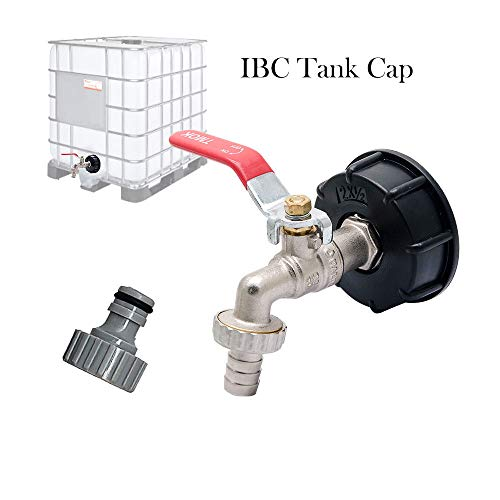 (IBC Tank Adapter MASO IBC TOTE TANK DRAIN ADAPTER S60X6 To Brass Garden Tap With 1/2
