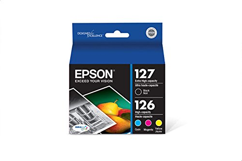 Epson T127120-BCS DURABrite Ultra Black & Color Combo Pack Extra High Capacity Cartridge Ink