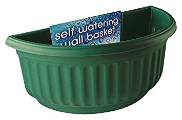 Stewart Corinthian Half Round Wall Basket Green Amazon Co Uk