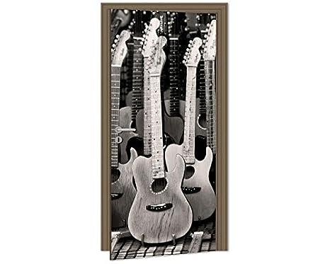 Papel Pintado Para Puerta – Guitarra