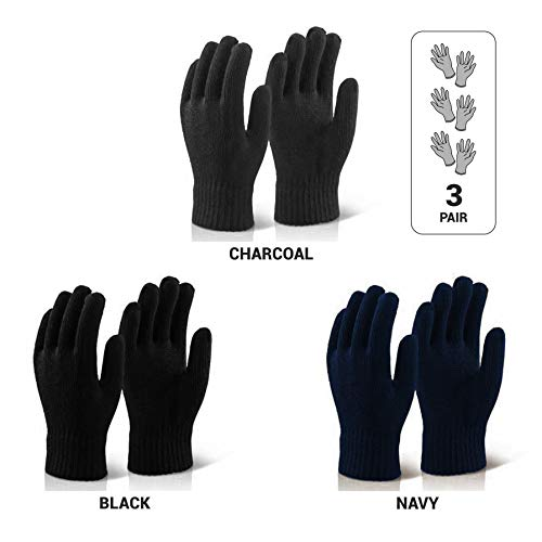 Le Gear Seamless Knitted Gloves for Protection from Sun, Dust, Pollution (3 Pair Pack) Price & Reviews