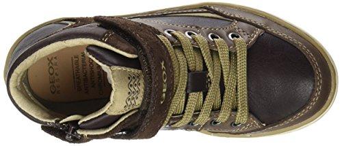 Geox Jr Garcia Boy a, Zapatillas Altas para Niños Braun (Dk Brown/BEIGEC6233)