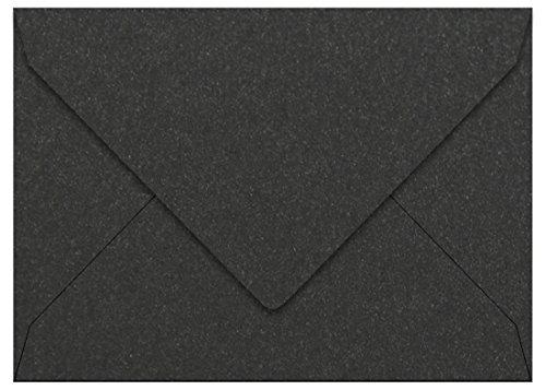 A2 Onyx Metallic Euro Flap Envelopes, Stardream 81lb, 25 (Stardream Metallic Onyx)