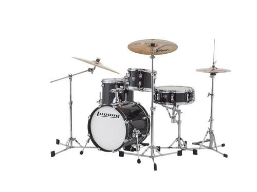 Ludwig Black Drum Tom - Ludwig Breakbeats By Questlove 4-piece Shell Pack