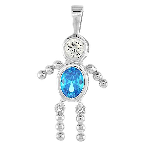 Sterling Silver Birthstone Necklace December