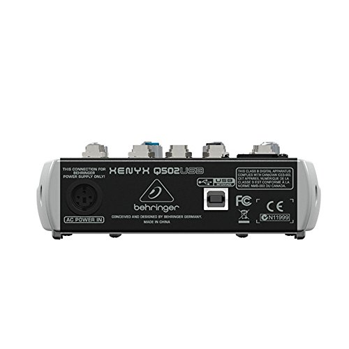 Package - Behringer Xenyx Q502USB Premium 5-Input 2-Bus Mixer + 1 EMB Emic800 Microphone + 1 Microphone Stands by Package (Image #2)