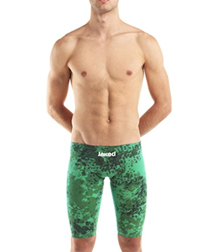 Jaked Men's JKATANA CAMOUFLAGE JAMMER COMPETITION TECHNICAL SWIMSUIT 26 Light Green