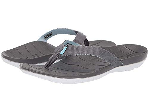 SOLE Women's Balboa Flip Grey/Light Blue 6 M US