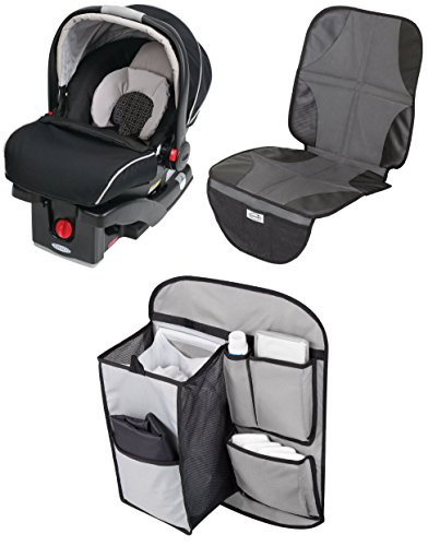 Graco SungRider Click Connect Infant 35 Car Seat with Backseat Organizer & Car Seat Mat, - Safeseat Graco Step