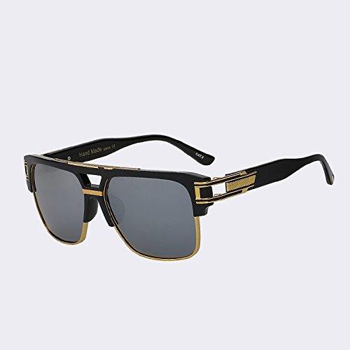 c3347d4756747 TIANLIANG04 Bastidor de metal mitad hombres gafas de sol Gafas de sol  Vintage Retro clásica mujer