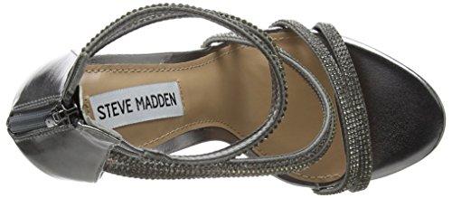 Steve STEVEN by Madden Bride Pewter Argent Femme Sweetest Cheville Sandales a1wq51U