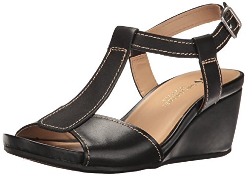 Naturalizer Women's Camilla Wedge Sandal, Black, 8.5 M (Naturalizer Wedge Shoes)