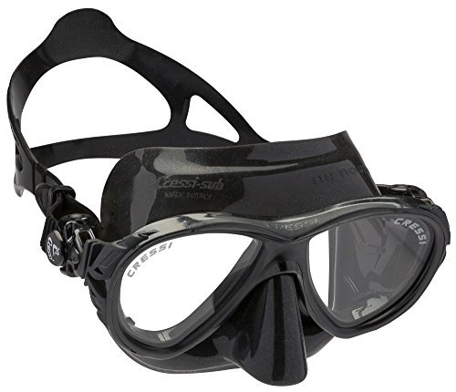 Cressi Eyes Evolution Scuba Diving Snorkeling Mask (Made in Italy), Black by Cressi