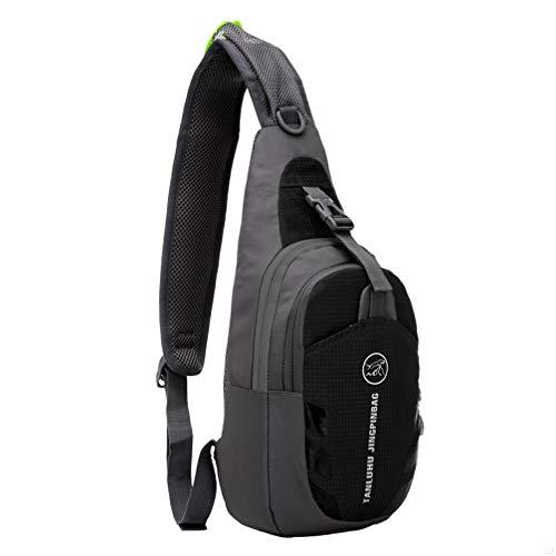 (G7Explorer Waterproof Lightweigh Breathable Chest Bag Sling Shoulder Backpack Black)