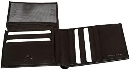 Wallet man BASILE moro in leather credit card holder with flap A4633