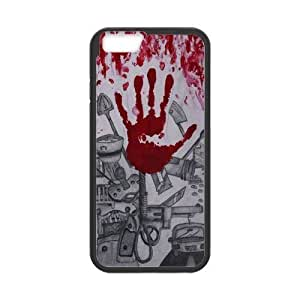 iPhone 6 Protective Case - Bloody Hand Hardshell Cell Phone Cover Case for New iPhone 6 Designed by HnW Accessories