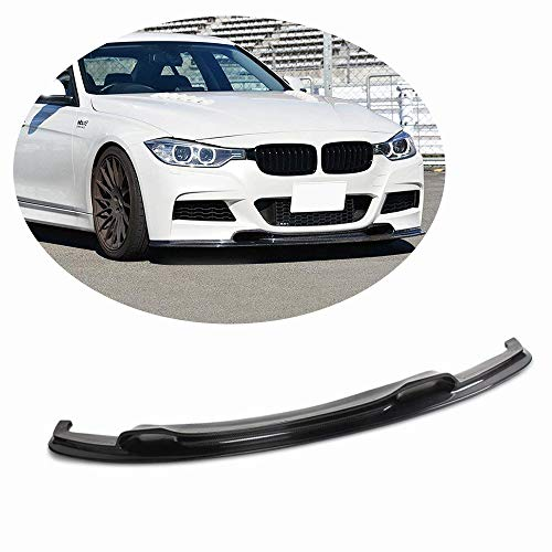 MCARCAR KIT Front Bumper Lip fits BMW 3 Series F30 M-Sport 2012-2018   320i 328i 335i M Packet Add-on Pure Carbon Fiber Chin Spoiler Protector