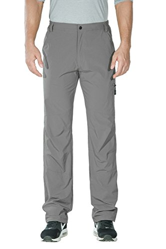 Nonwe Men's Water-Resistant Breathable Quick Drying Pants Light Gray M/32 Inseam