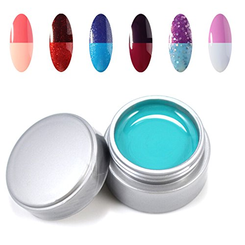 Perfect Summer 6pcs UV Temperature Changing Color Gel Nail p