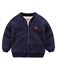 Fairy Baby Kids Winter Fleece Outwear Jacket Solid Toddler Boys Basic Outfit