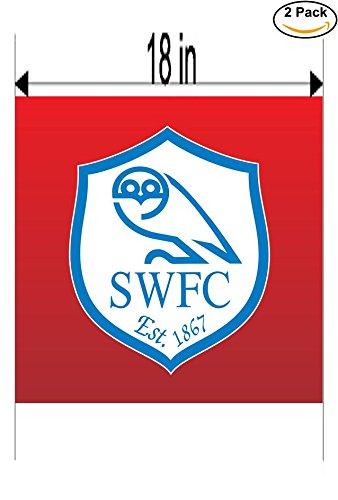 fan products of Sheffield Wednesday FC United Kingdom Soccer Football Club FC 2 Stickers Car Bumper Window Sticker Decal Huge 18 inches
