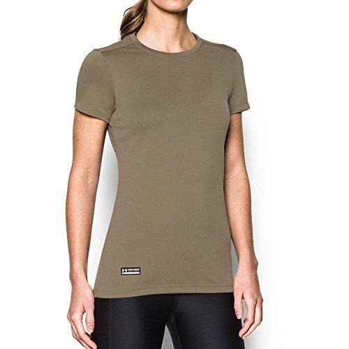 Under Armour Women's Tech Tactical Short Sleeve Shirt, Federal Tan (499), Medium