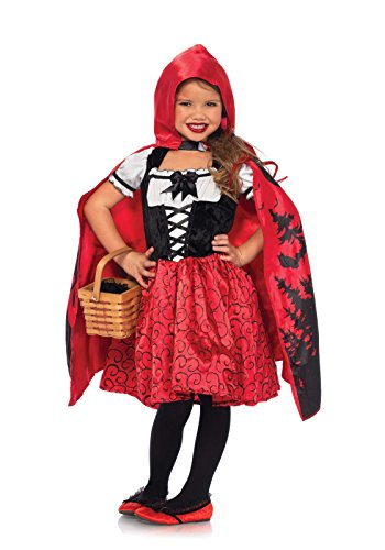 Leg Avenue's Girl's Storybook Riding Hood Costume, Red/Black, -