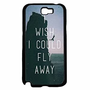 I Wish I Could Fly Away- Plastic Phone Case Back Cover Samsung Galaxy Note II 2 N7100