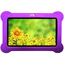 """Zeepad KIDS 7"""" 4GB Android 4.4 Quad Core Five Point Multi Touch Tablet PC, Kids Edition, Purple"""