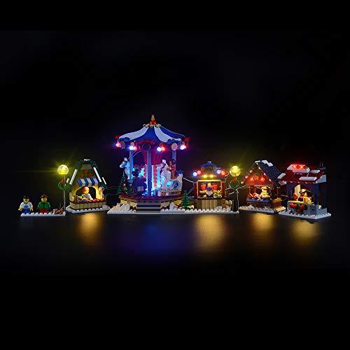 Juego de luces LIGHTAILING para bloques de construcción (Creator Expert Winter Village Market) - Kit de luces LED Compatible con Lego 10235 (NO incluido el modelo)