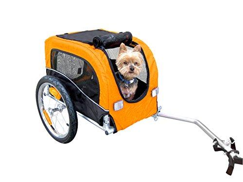 Amazon.com : Booyah Small Dog Pet Bike Bicycle Trailer Pet Trailer Orange :  Sports & Outdoors