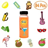 84 Pcs Water Bottle Stickers,Waterproof Stickers for Water Bottles Cute Stickers for Kids,Perfect for Laptop,Phone,Travel Extra Durable 100% Vinyl
