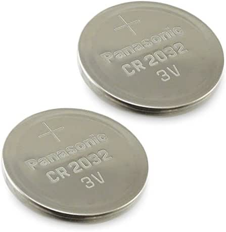 (2pcs) PANASONIC Cr2032 3v Lithium Coin Cell Battery for Misfit Shine Sh0az Personal Physical Activity Monitor