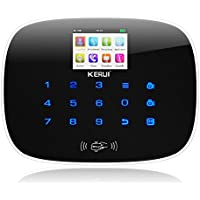 KERUI G193 Wireless 3G Color Touch Keypad Screen RFID Home Security Burglar Alarm System Host,APP Remote Control GSM DIY Auto Dial,Black