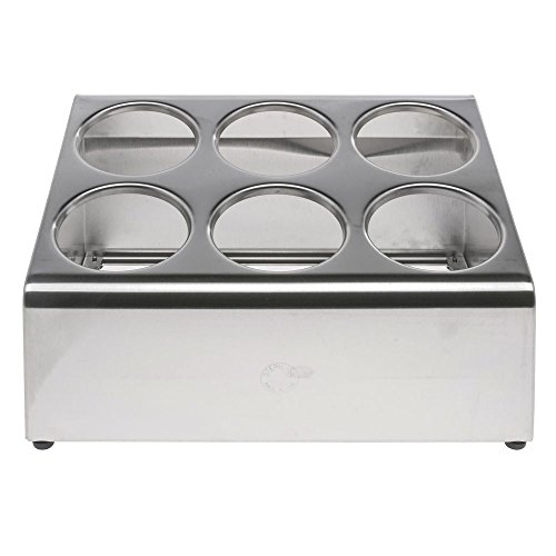 Steril SIL Stainless Steel Countertop Flatware Dispenser - 15 1/8