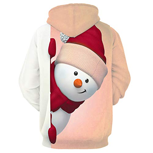 Halloween Christmas Men's Autumn Long Sleeve Hooded Plaid Sweatshirt Casual Warm Pullover Sportswear Blouse (ZF_Pink, -