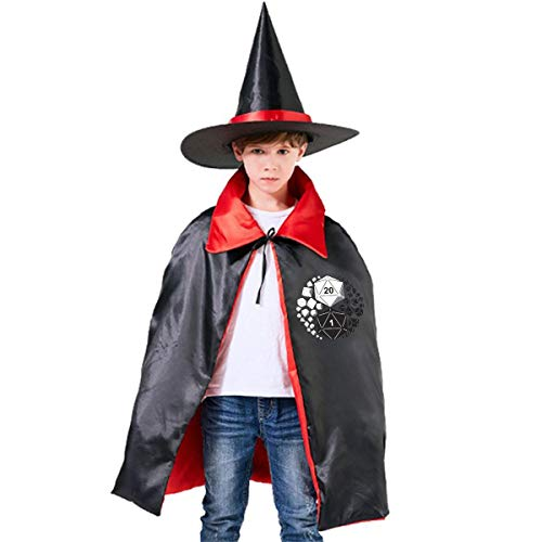 Children Dungeons And Dragons Yin Yang Halloween Party Costumes Wizard Hat Cape Cloak Pointed Cap Grils -