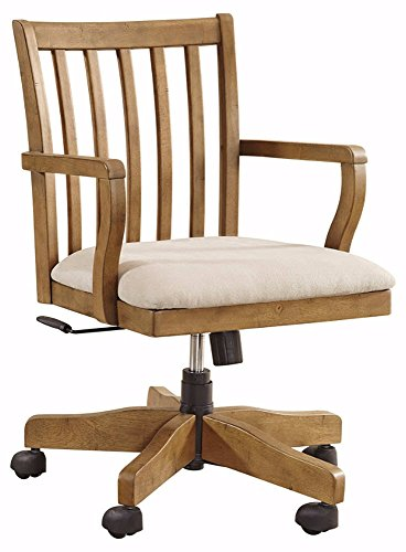 wood bankers desk chair - 9